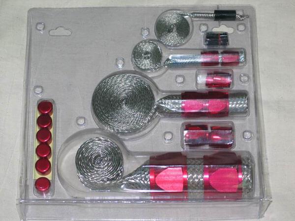 Оплетка для армирования шлангов, красная