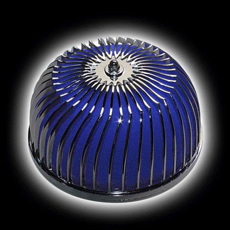 Фильтр воздушный Pro.Sport поролон, TRUST, синий+хром (D=70)