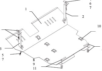 PREMIUM. Защита двигателя и КПП HAFEI Sigma
