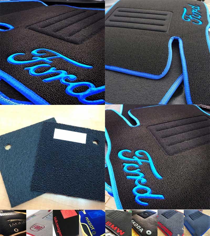 Ковры автомобильные текстильные для Ford Tourneo Connect 2002г> МКП 5дв пас,