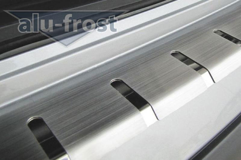 Накладка на задний бампер с загибом Alu-Frost для Mercedes B Class W245 5D 2005-2008 (шт.)