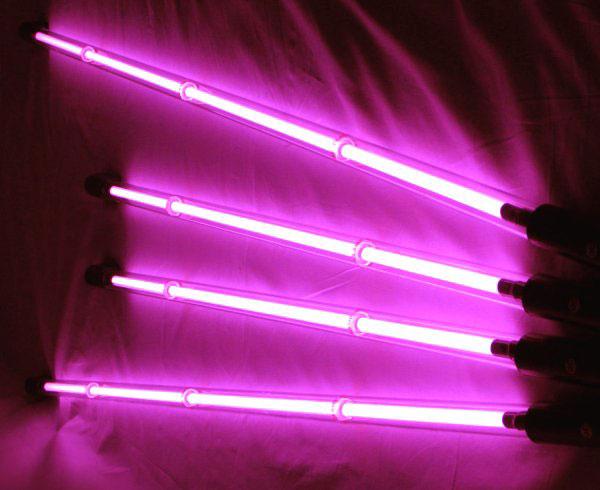 Комплект неоновой подсветки (4 трубки) розовцый