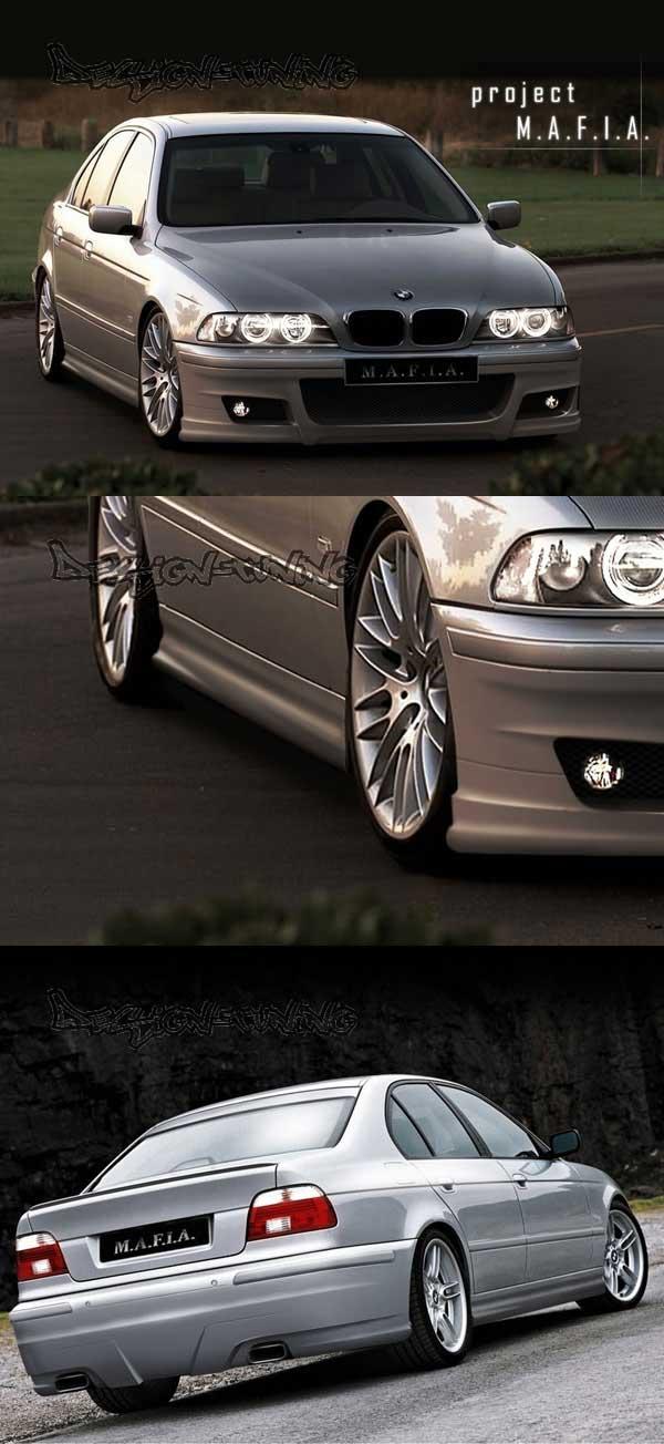 Комплект аэродинамического обвеса в стиле Mafia на БМВ Е39  - Передний бампер  - Задний бампер  - Накладки на пороги