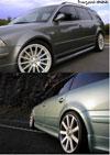 Накладки на пороги VW Passat (09.2000-03.2005). Материал: стекловолокно