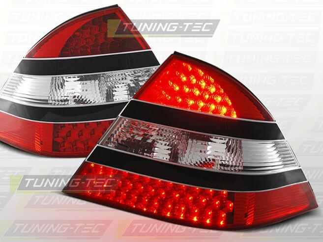 Альтернативная оптика для MERCEDES W220 S-Class 09.98-05.05 RED BLACK LED (тюнинг оптика, цена за комплект) .