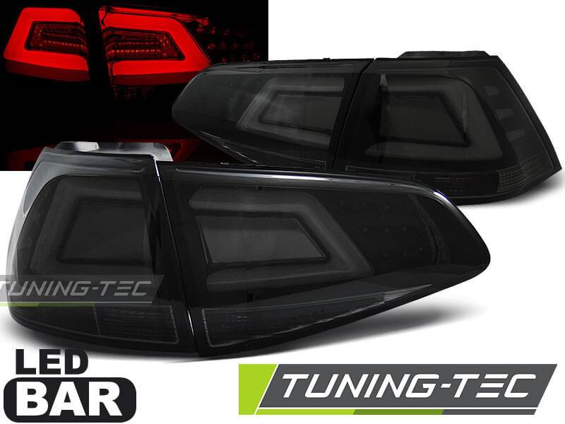 Альтернативная оптика для VW GOLF 7 13- SMOKE BLACK LED BAR (тюнинг оптика, цена за комплект)