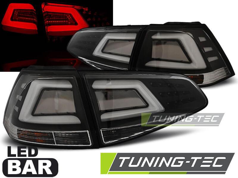 Альтернативная оптика для VW GOLF 7 13- BLACK LED BAR (тюнинг оптика, цена за комплект)