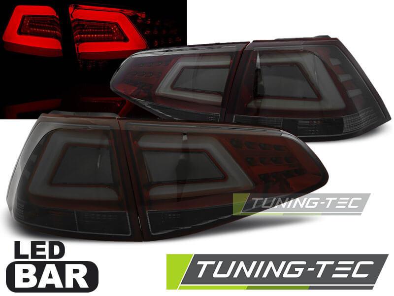 Альтернативная оптика для VW GOLF 7 13- SMOKE RED LED BAR (тюнинг оптика, цена за комплект)