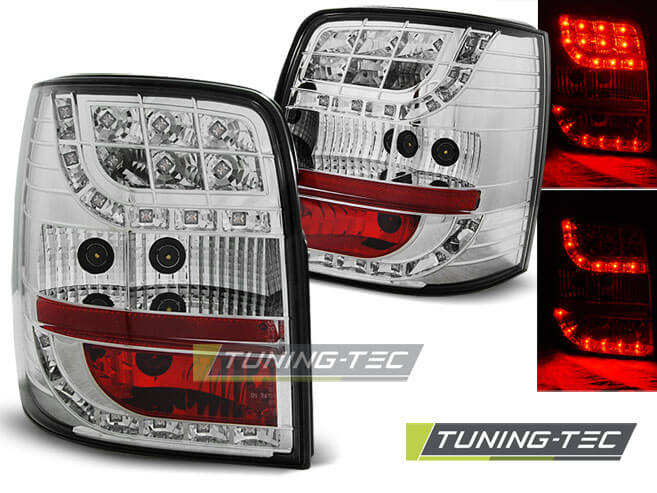 Альтернативная оптика для VW PASSAT B5 96-00 VARIANT CHROME LED (тюнинг оптика, цена за комплект)
