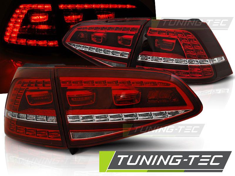 Альтернативная оптика для VW GOLF 7 13- RED WHITE LED GTI LOOK (тюнинг оптика, цена за комплект)