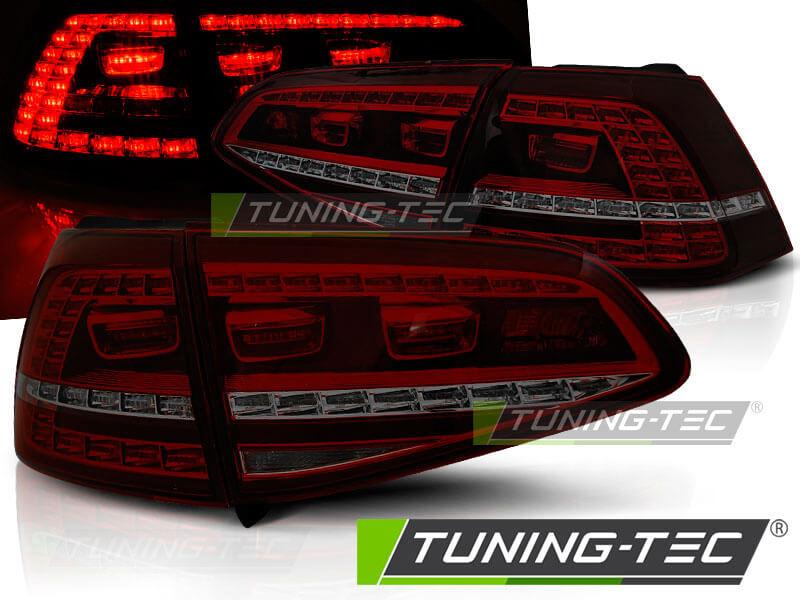 Альтернативная оптика для VW GOLF 7 13- RED SMOKE LED GTI LOOK (тюнинг оптика, цена за комплект)
