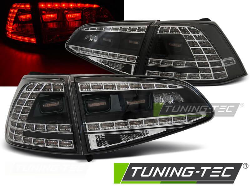 Альтернативная оптика для VW GOLF 7 13- BLACK LED GTI LOOK (тюнинг оптика, цена за комплект)