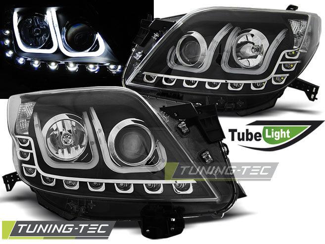 Альтернативная оптика для TOYOTA LAND CRUISER 150 09- TUBE LIGHT BLACK (тюнинг оптика, цена за комплект)