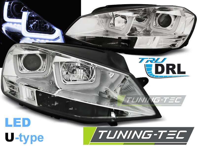 Альтернативная оптика для VW GOLF 7 11.12- U-TYPE CHROME (тюнинг оптика, цена за комплект)
