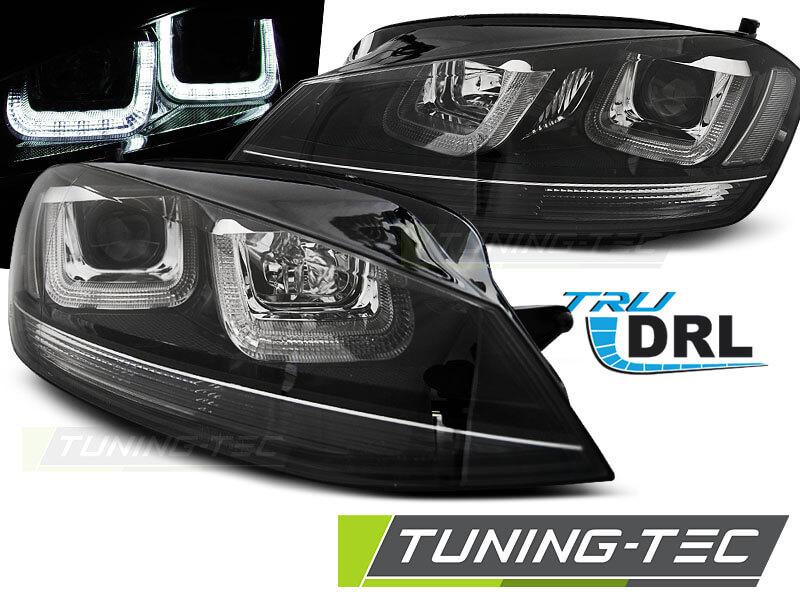 Альтернативная оптика для VW GOLF 7 11.12- U-TYPE BLACK WITH BLACK LINE (тюнинг оптика, цена за комплект)