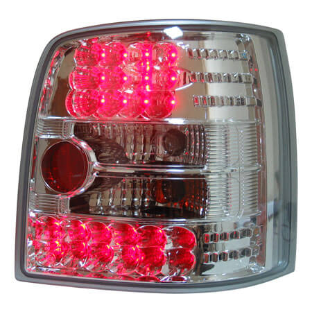 Альтернативная оптика для VW PASSAT wagon '97-, T/L, фонари задние, светодиодные, хром (тюнинг оптика, цена за комплект)