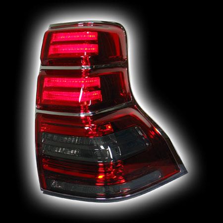 Альтернативная оптика для TOYOTA LAND CRUISER PRADO `09-, T/L, фонари задние, светодиодные, красные/тонированне NO (тюнинг оптика, цена за комплект)