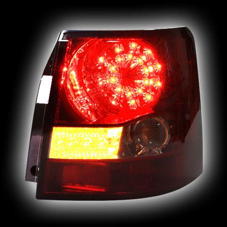 Альтернативная оптика для LAND ROVER, RANGE ROVER SPORT '06- фонари задние, светодиодные, красные, тонированные, светодиодный поворотник (тюнинг оптика, цена за комплект)
