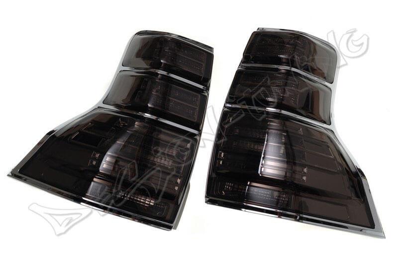 Альтернативная оптика для TOYOTA PRADO FJ150 `08-, светодиодные, тонированные (тюнинг оптика, цена за комплект)