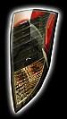 Альтернативная оптика для FORD FOCUS `00-03 фонари задние, светодиодные, черный (тюнинг оптика, цена за комплект)