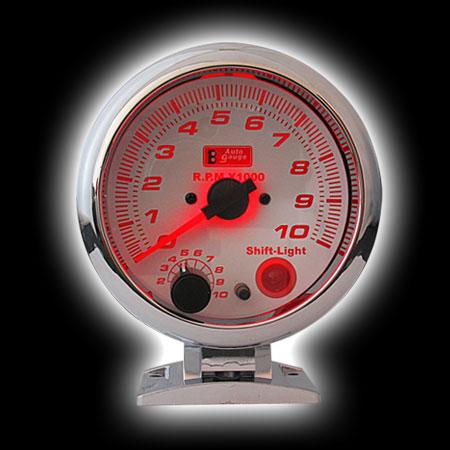 Тахометр (95мм), 7цв. подсветка, вспышка (0-10000RPM)