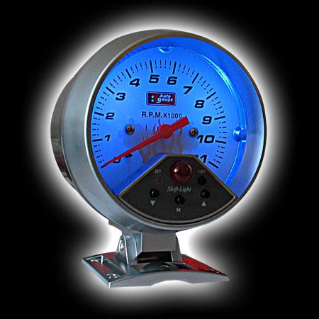 Тахометр (95мм), 7цв. подсветка, вспышка (0-11000RPM)