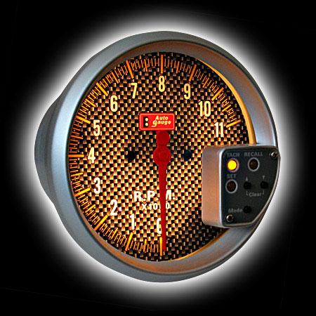 Тахометр (125мм), внешняя вспышка, память, подсветка карбон (0-11000RPM)