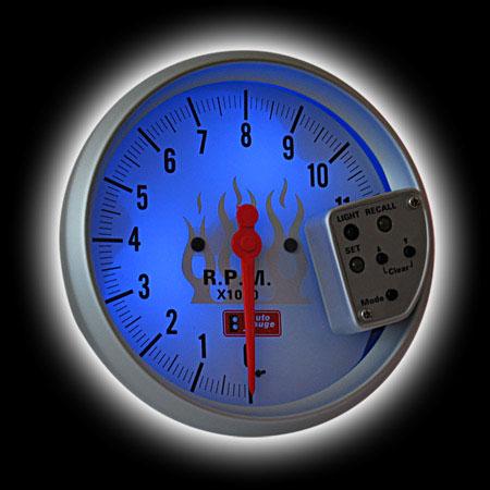 Тахометр (125мм), внешняя вспышка, память, 7 цв. подсветка (0-11000RPM)
