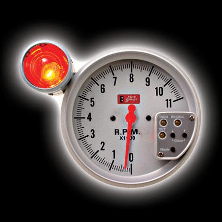 Тахометр (125мм), внешняя вспышка, память, подсветка белая (0-11000RPM)
