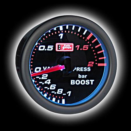 Указатель давления турбо  (52мм), LEXUS style