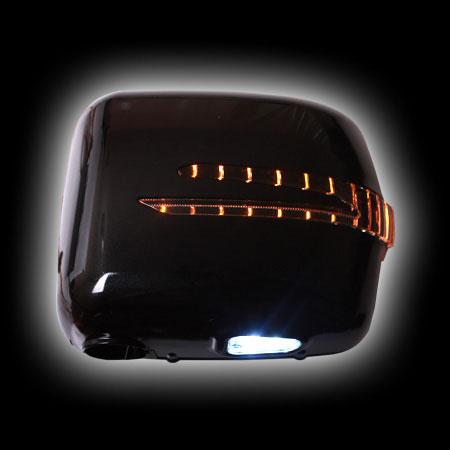 Накладки на зеркала MB W463 G-Class, с повторителем дизайн W212, черные