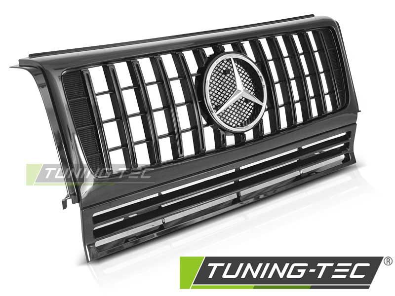 Решетка радиатора W463 90-12 GLOSSY BLACK W464 G63 LOOK