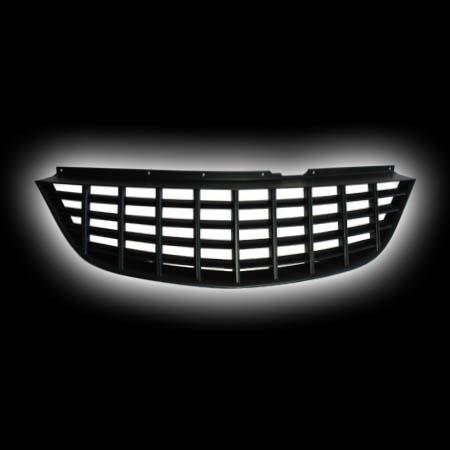 Декоративная решетка радиатора OPEL CORSA D `07-`08 черная