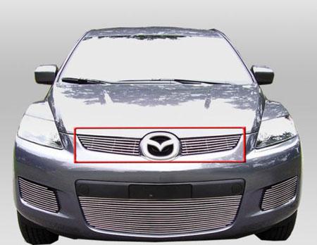 Декоративная решетка радиатора Mazda CX7 '07-09, алюминий