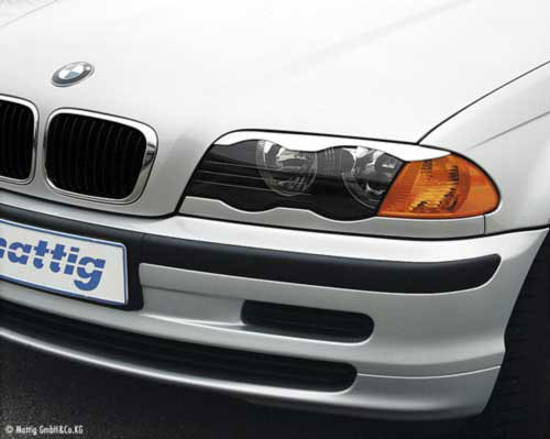 BMW E46  накладки фар ( реснички ) нижние