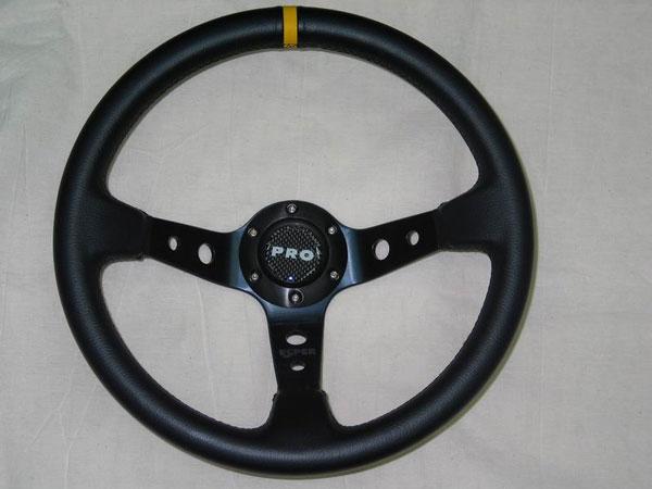 Руль PRO.SPORT RALLY  350mm, кожа, синий, черн. cтрочка РР-15002-35LTH