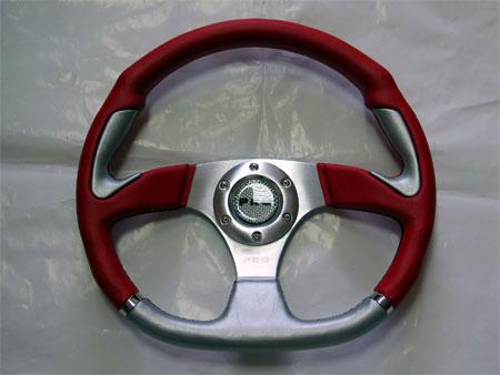 Руль PRO.SPORT 350mm, винил, красный PP-15011-35PVC