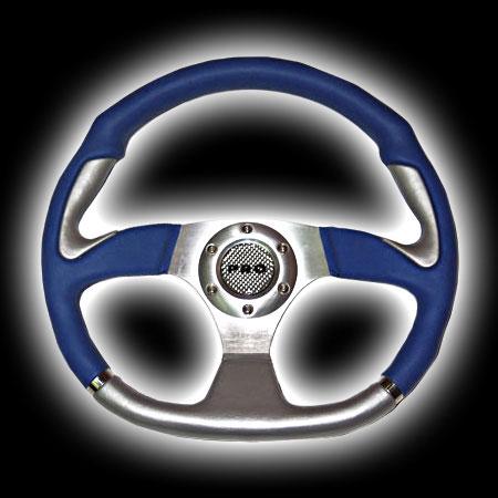 Руль PRO.SPORT 350mm, винил, синий PP-15011-35PVC