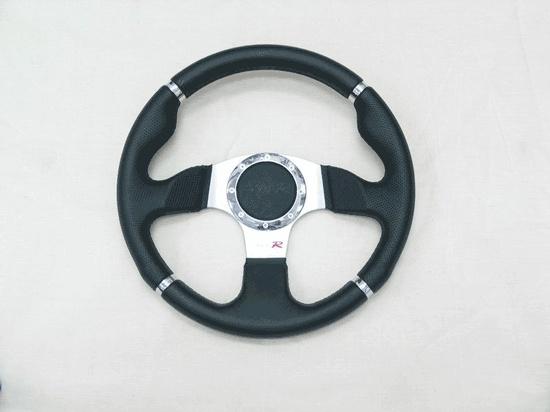 Руль TYPE R 320 mm, кожа син строчка PP-15003-32LTH-BLUS