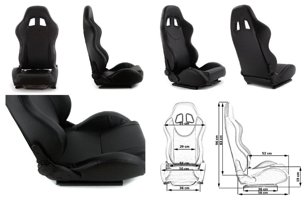 Сиденье MONZA+ 4/5D, черное. Изготовлено из стальной рамы. В комплекте крепления (салазки). Вес  - 11,5 кг