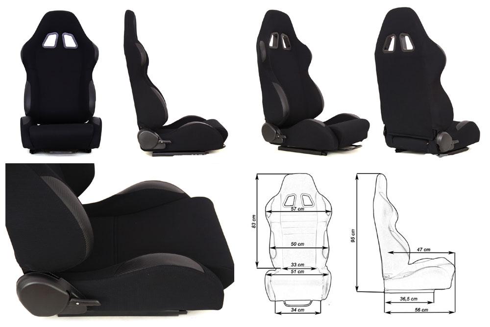 Сиденье MONZA 2/3D, черное. Изготовлено из стальной рамы, тканевая обивка. В комплекте крепления (салазки). Вес  - 11,5 кг