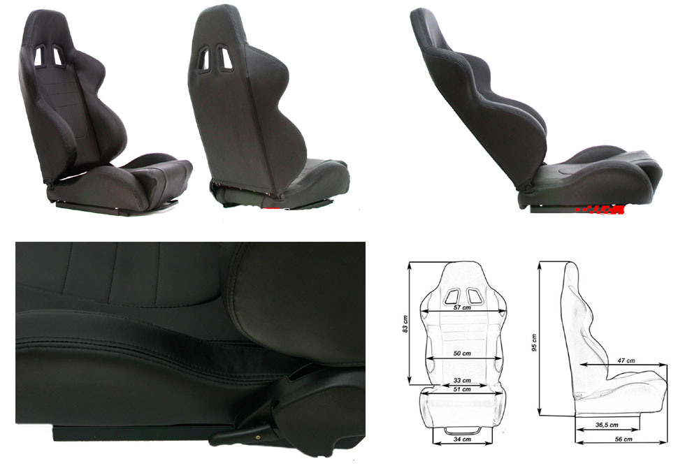 Сиденье MONZA 2/3D, черное. Изготовлено из стальной рамы. В комплекте крепления (салазки).
