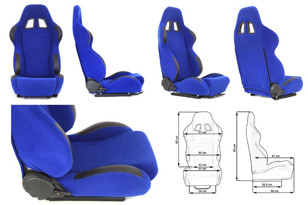 Сиденье MONZA 2/3D, синее. Изготовлено из стальной рамы, тканевая обивка. В комплекте крепления (салазки). Вес  - 11,5 кг