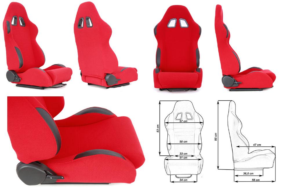 Сиденье MONZA 2/3D, красное. Изготовлено из стальной рамы, тканевая обивка В комплекте крепления (салазки). Вес  - 11,5 кг