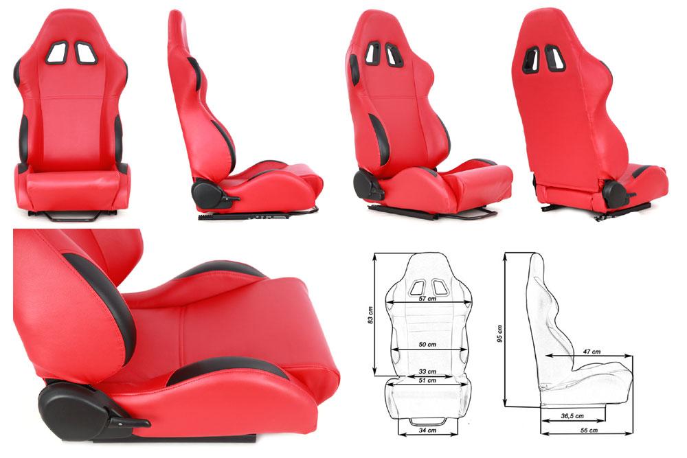 Сиденье MONZA 2/3D, красное. Изготовлено из стальной рамы. Материал -  В комплекте крепления (салазки). Вес  - 11,5 кг