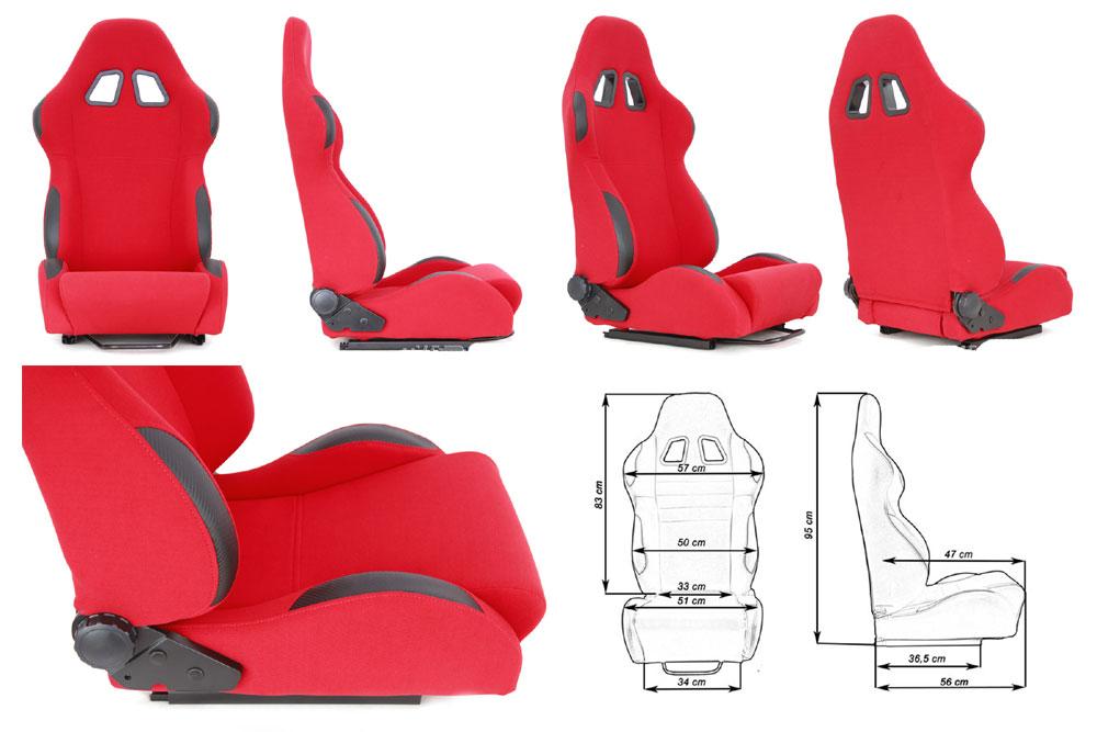 Сиденье MONZA 4/5D, красное. Изготовлено из стальной рамы, тканевая обивка В комплекте крепления (салазки). Вес  - 11,5 кг
