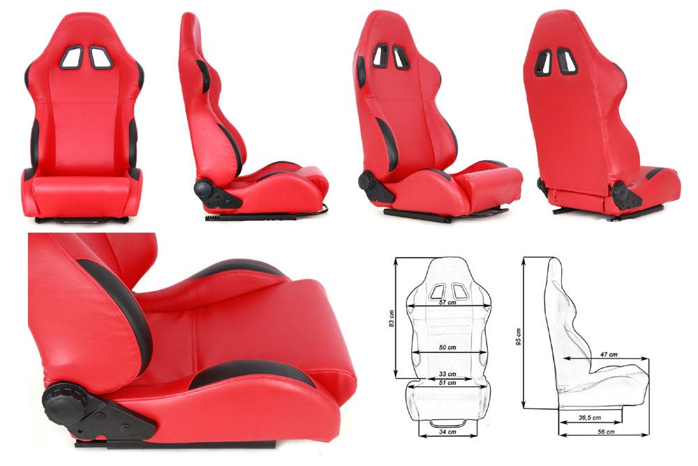 Сиденье MONZA 4/5D, красное. Изготовлено из стальной рамы. В комплекте крепления (салазки). Вес  - 11,5 кг