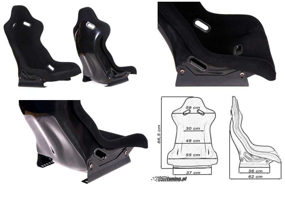 Сиденье RALLY черное. Монолитная конструкция,материал – стекловолокно с эпоксидной смолой, задняя часть открыта – окрашена в черный глянец, тканевая обивка. В комплекте крепления (салазки). Вес - 7 кг