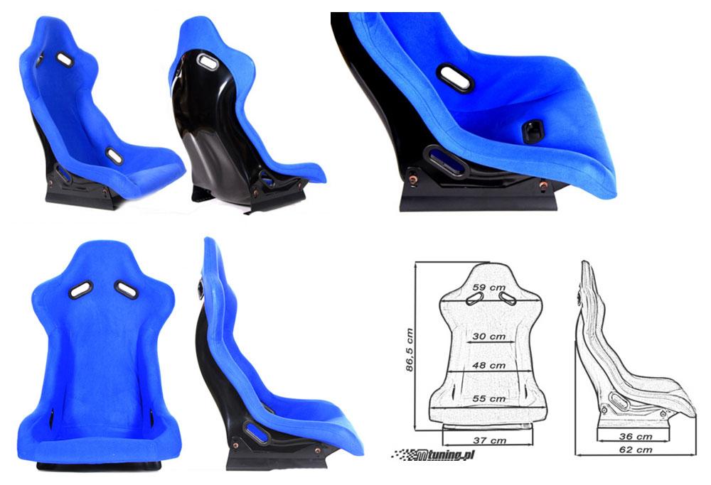 Сиденье RALLY синее. Монолитная конструкция,материал – стекловолокно с эпоксидной смолой, задняя часть открыта – окрашена в черный глянец, тканевая обивка. В комплекте крепления (салазки). Вес - 7 кг