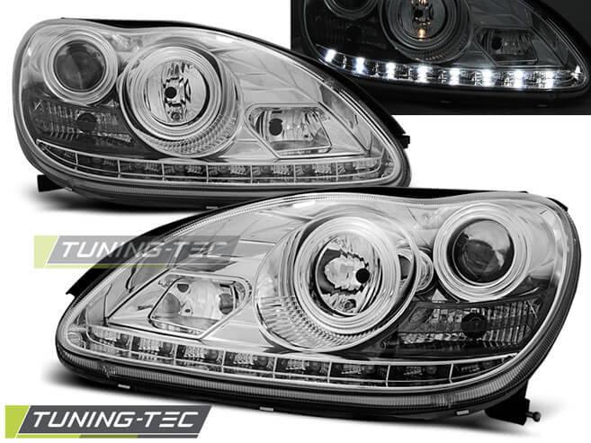 Альтернативная оптика для MERCEDES W220 S-Class 09.98-05.05 DAYLIGHT CHROME (тюнинг оптика, цена за комплект)